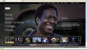 HBO home page