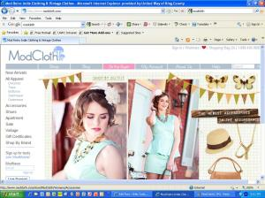 Screenshot of home page of ModCloth website