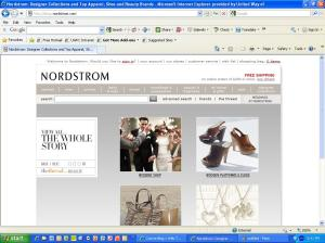 Nordstrom dot com home page