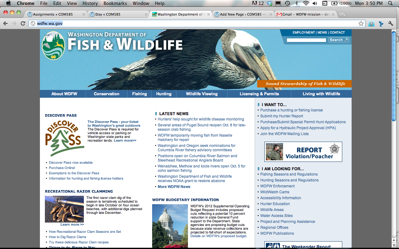 Washington department of fish and wildlife managing your for Department of fish and wildlife washington
