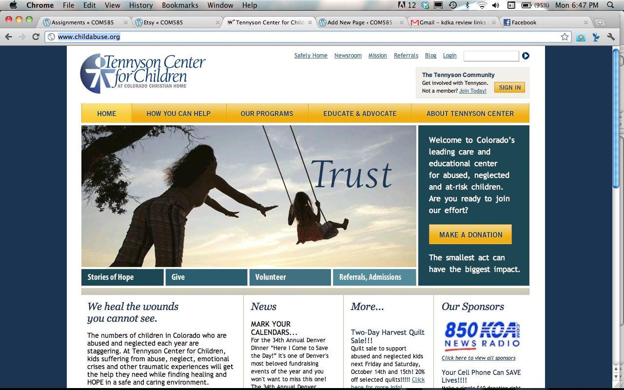 Tennyson Center for Children | Managing Your Web Presence ...