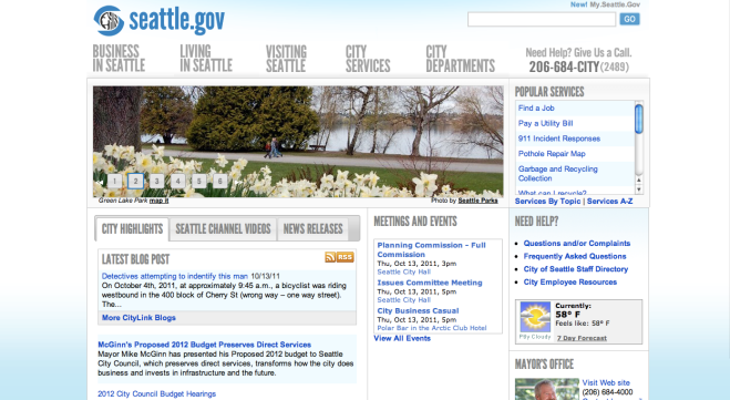 Seattle government Front Page