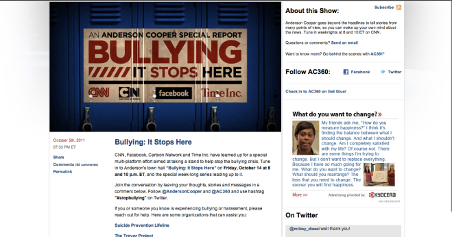 Anderson Cooper 360 Blog front page 2