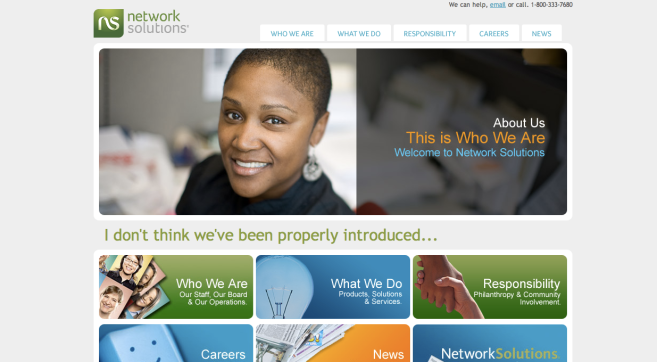 Network Solutions Front Page