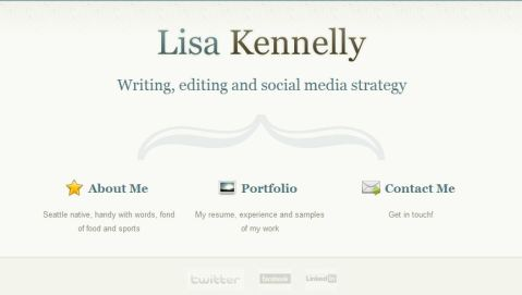 Lisa Kennelly's portfolio site