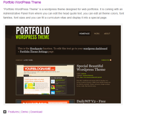 Picture of webdesign portfolio theme