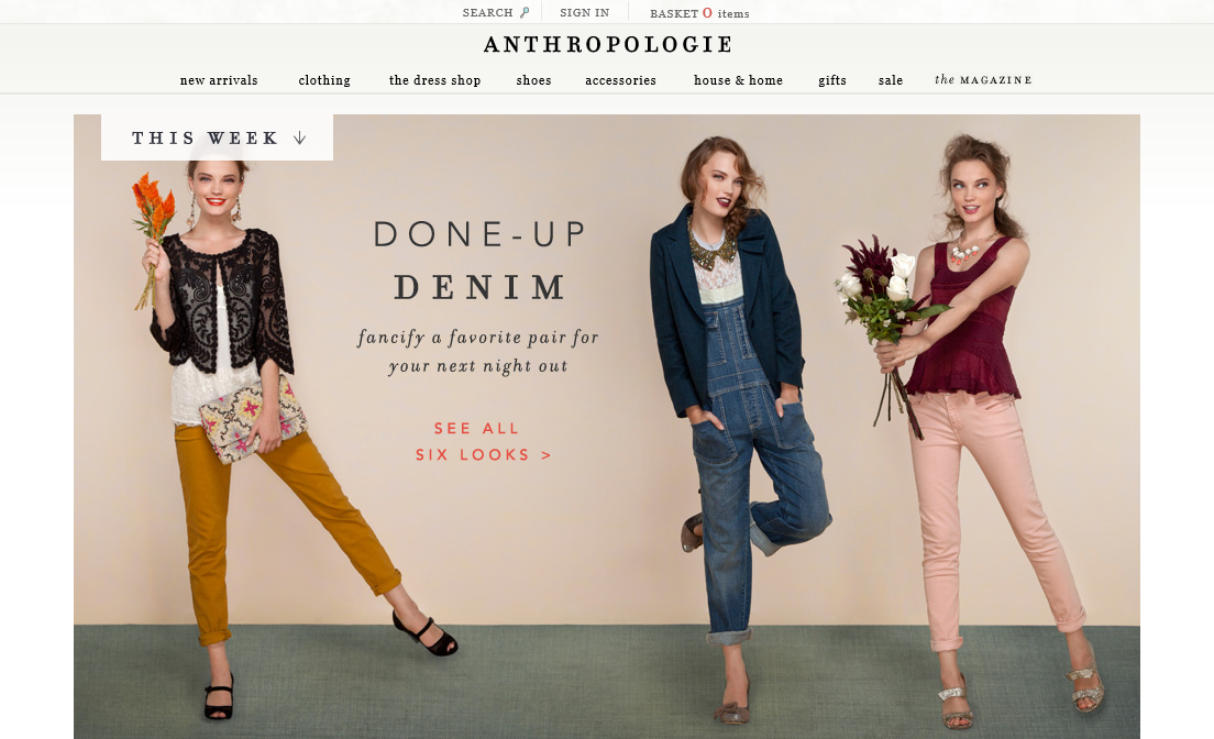 301 moved permanently for Online stores like anthropologie