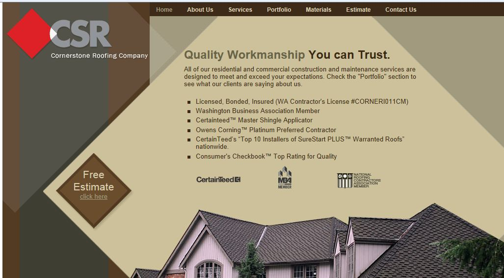 Stout Roofing Initial Website Design Audience And