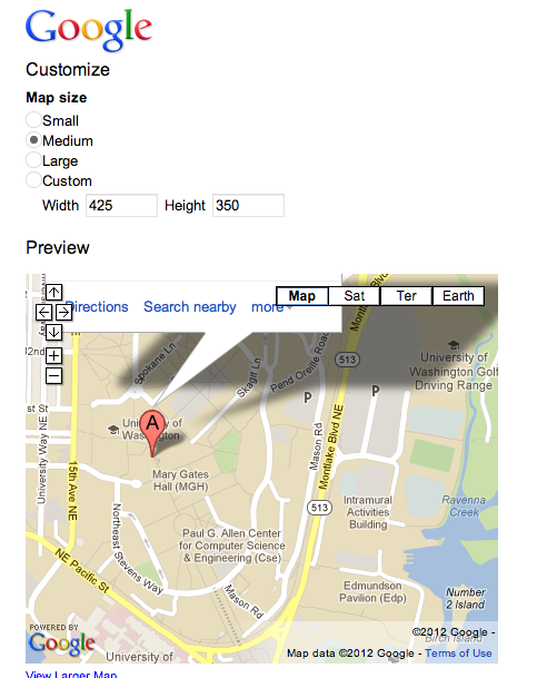 Customize Google Map